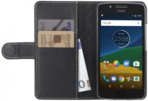 StilGut - Moto G5 Cover Talis with Card Holder