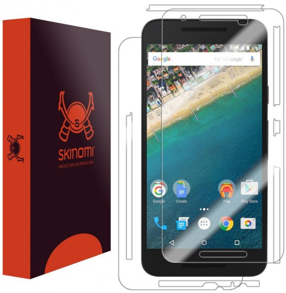 Skinomi - Nexus 5X screen protector TechSkin back and front sides
