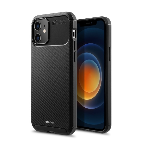 StilGut - iPhone 12 mini TPU Case Carbon Auto Focus