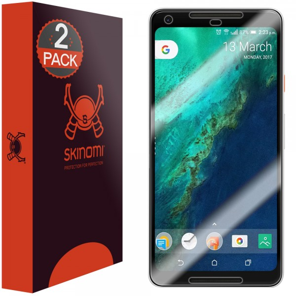 Skinomi - Google Pixel 2 XL Screen Protector Maximum Coverage (set of 2)