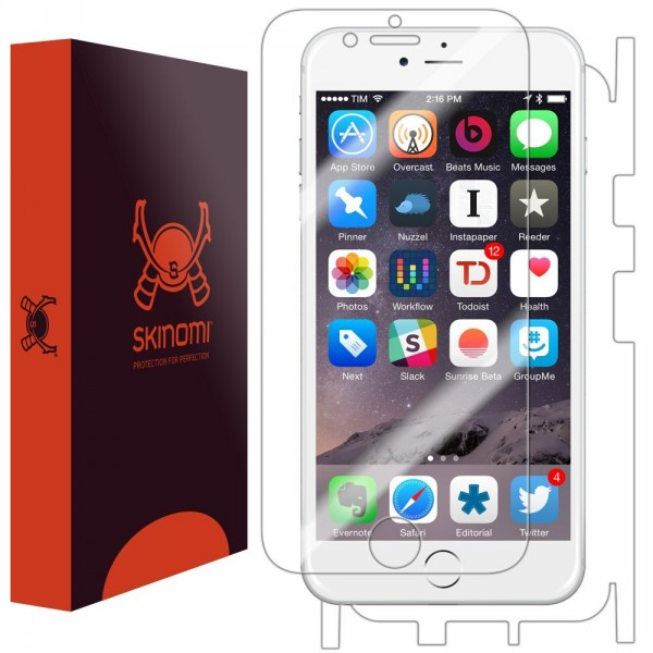 Skinomi - Screen protector for iPhone 6 TechSkin back and front sides