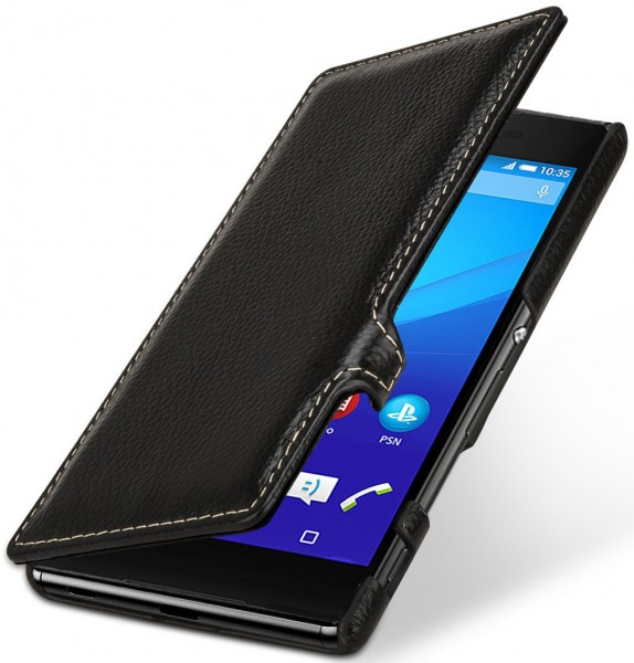 "StilGut - Sony Xperia Z3+ leather case ""Book Type"" with clip"
