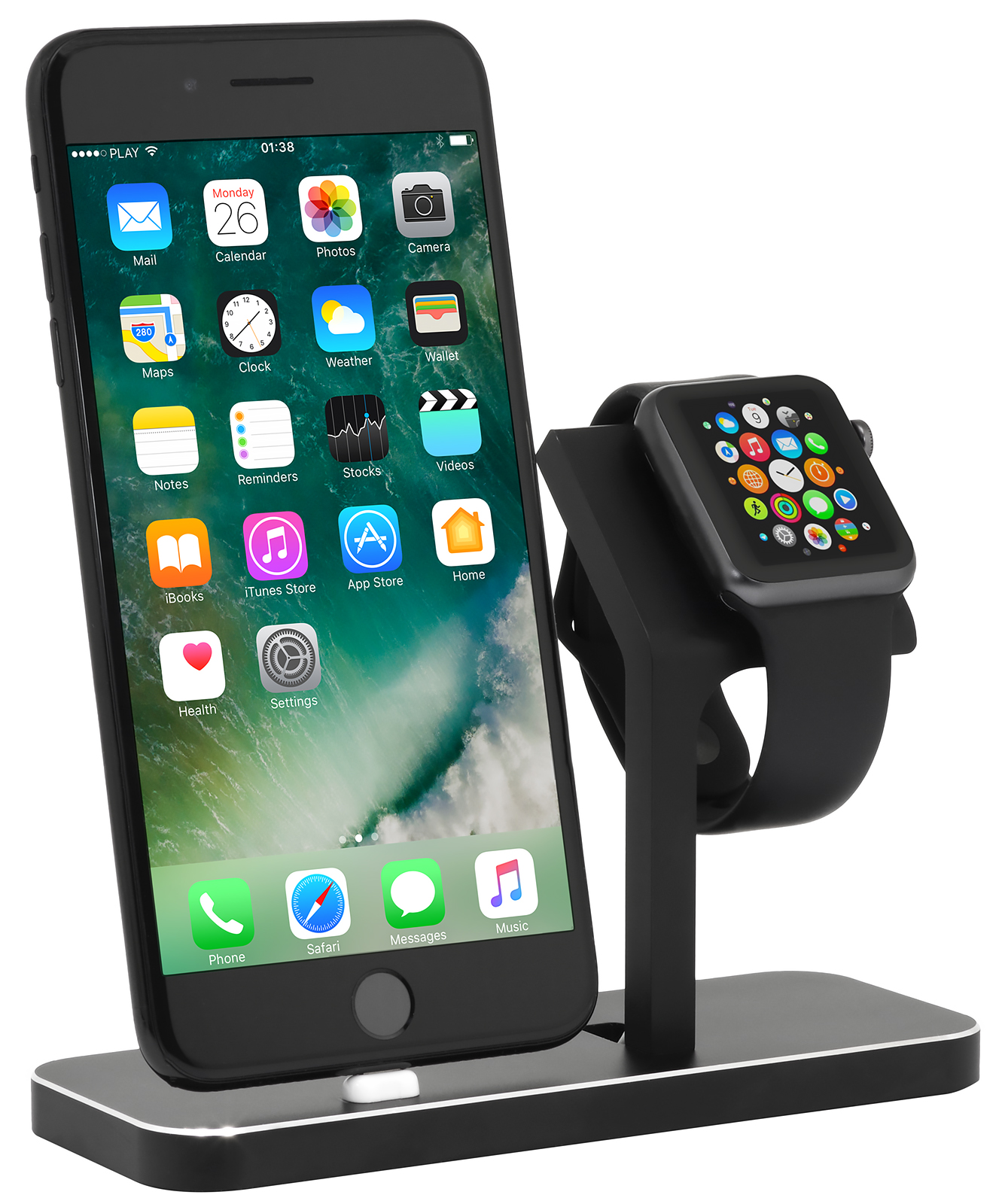 apple watch iphone docking station stilgut. Black Bedroom Furniture Sets. Home Design Ideas