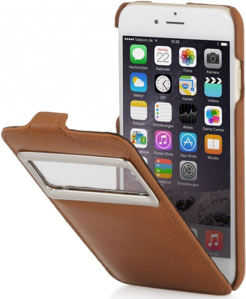 "StilGut - iPhone 6 leather case, ""UltraSlim"" with caller ID display"
