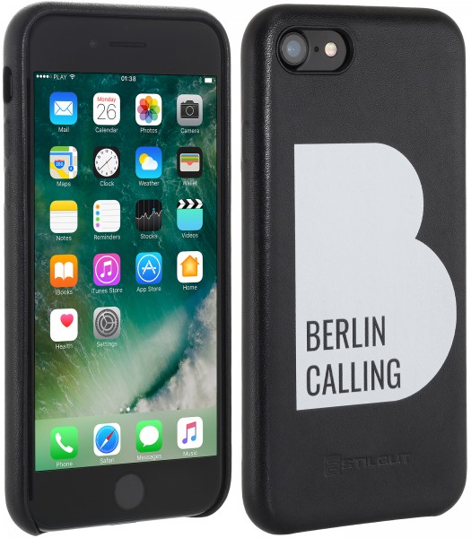 StilGut - iPhone 7 Cover Berlin Calling in Leather - Like Berlin Edition