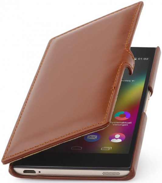 """StilGut - Wiko Highway Star leather case """"Book Type"""" with clip"""