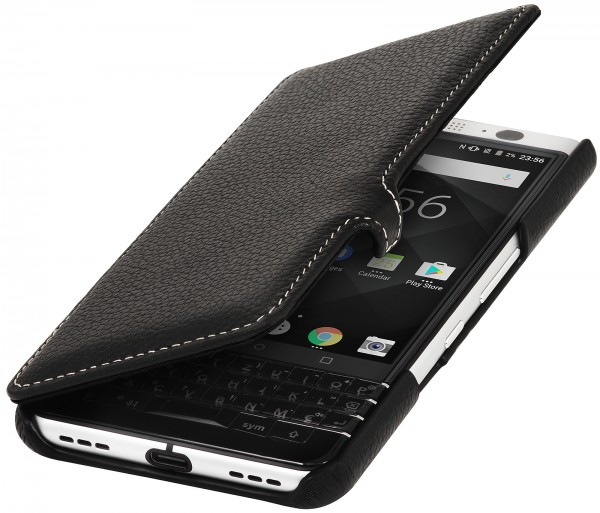 StilGut - BlackBerry KEYone Cover Book Type with Clip