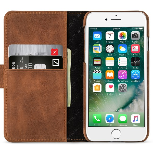 StilGut - iPhone 8 Cover Talis with Card Holder