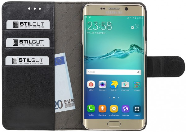 "StilGut - Galaxy S6 edge+ case ""Talis"" card-holder"