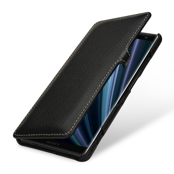 StilGut - Sony Xperia XZ3 Cover Book Type with Clip