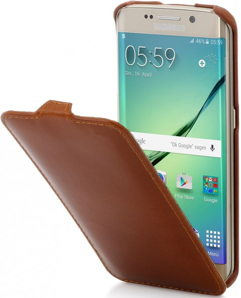 buy online 60521 5a0bb StilGut - Galaxy S6 Edge leather case