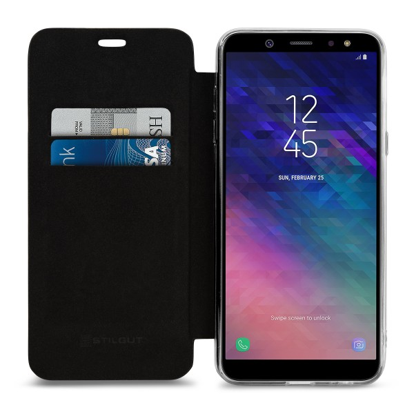 StilGut - Samsung Galaxy A6 Plus (2018) Book Type NFC/RFID Blocking Case