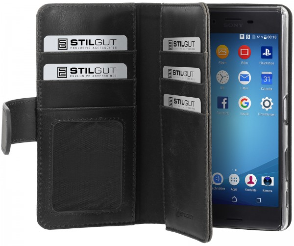 StilGut - Sony Xperia X cover Talis XL with card holder