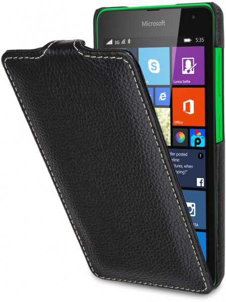 "StilGut - Microsoft Lumia 535 leather case ""UltraSlim"""