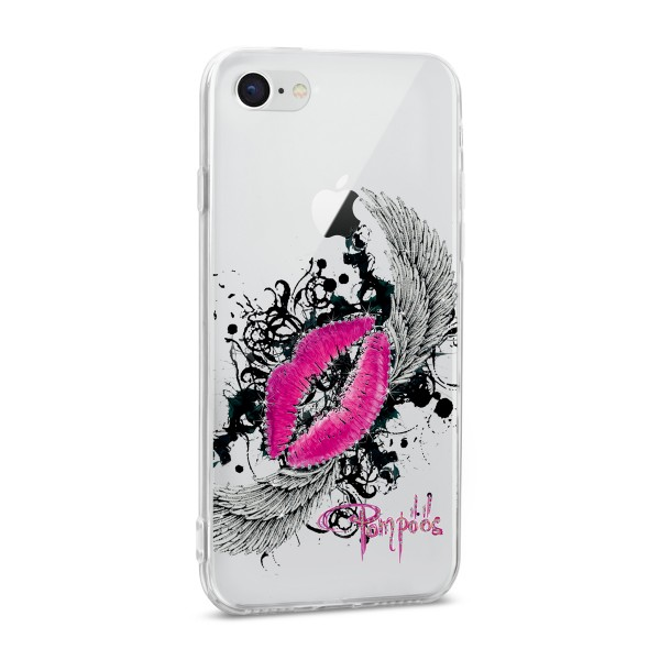 POMPÖÖS by StilGut - iPhone 8 Cover Kiss - Design by HARALD GLÖÖCKLER