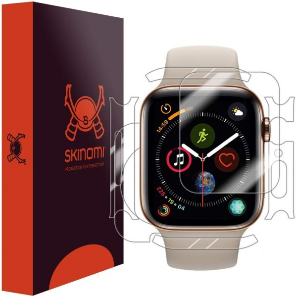 Skinomi - Apple Watch Series 5 (44 mm) Screen Protector Full Body (3 pack)