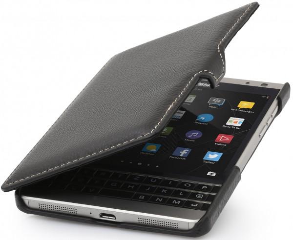 StilGut - BlackBerry Passport Silver Edition leather case Book Type with clip