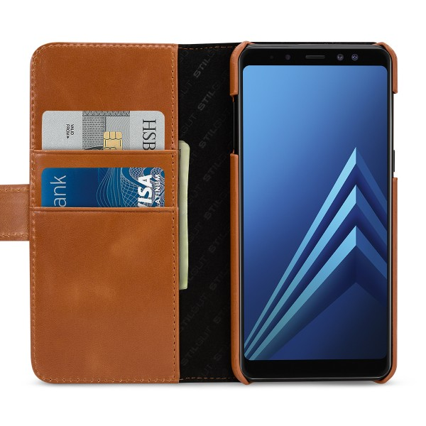StilGut - Samsung Galaxy A8 (2018) Cover Talis with Card Holder