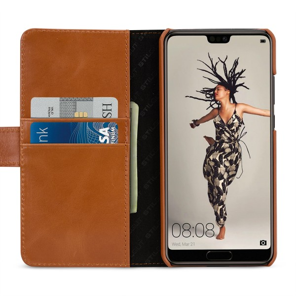 StilGut - Huawei P20 Cover Talis with Card Holder