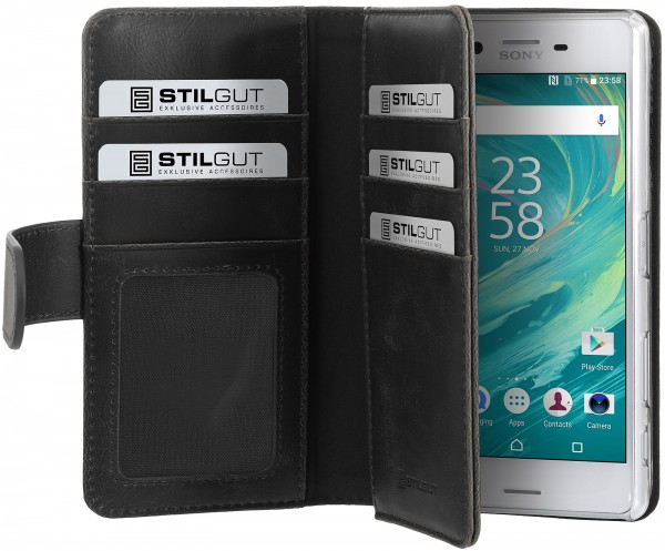 StilGut - Sony Xperia X Performance cover Talis XL with card holder