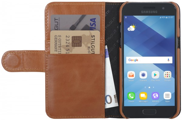 StilGut - Samsung Galaxy A3 (2017) Cover Talis with Card Holder