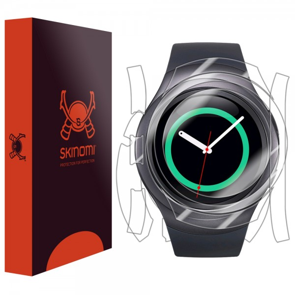 Skinomi - Samsung Gear S2 screen protector TechSkin back and front sides