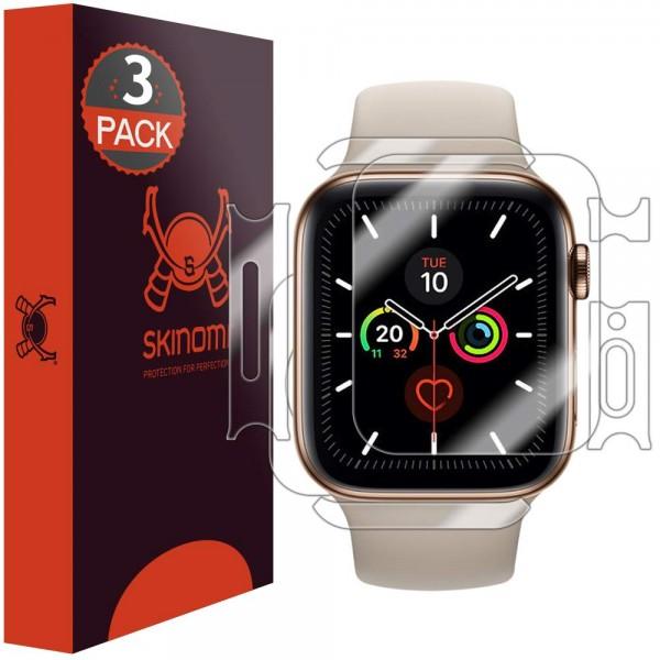 Skinomi - Apple Watch Series 5 (40 mm) Screen Protector Full Body (3 pack)