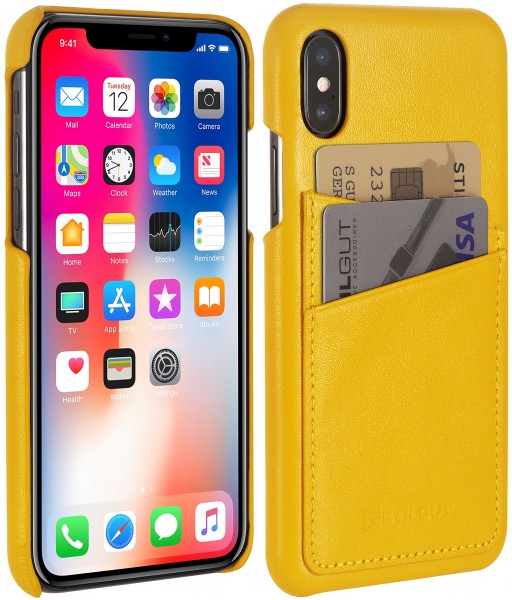 StilGut - iPhone XS Cover with Card Holder