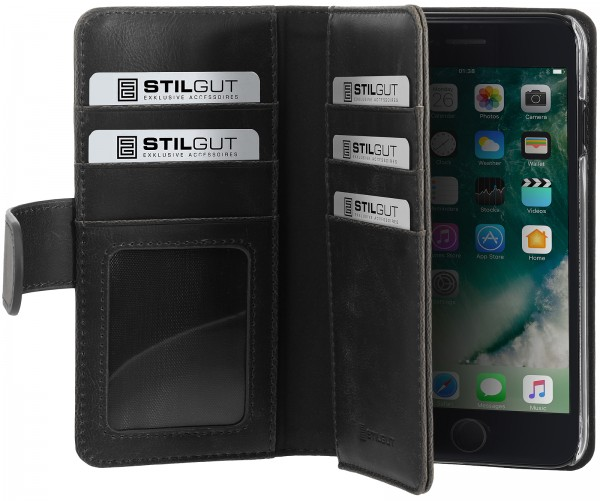 StilGut - iPhone 7 cover Talis XL with card holder