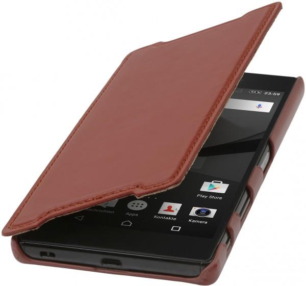 """StilGut - Xperia Z5 Premium leather case """"Book Type"""" without clip"""