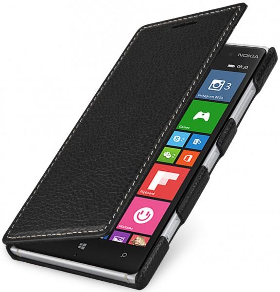 "StilGut - Nokia Lumia 830 leather case, ""Book Type"""