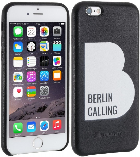 StilGut - iPhone 6s Plus cover Berlin Calling in leather - Like Berlin Edition