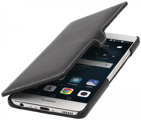 StilGut - Huawei P9 cover Book Type in leather with clip
