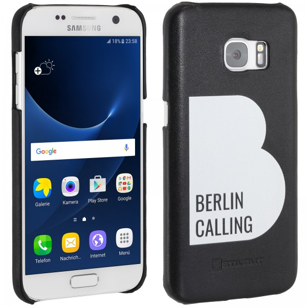 StilGut - Samsung Galaxy S7 Cover Berlin Calling in Leather - Like Berlin Edition