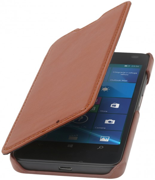 StilGut - Lumia 550 cover Book Type in leather without clip