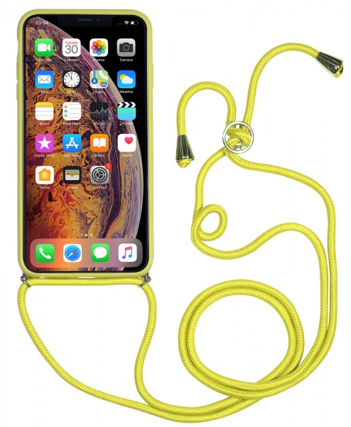 finest selection 8bd33 01e0f StilGut - iPhone XS Max Lanyard Case with Leather