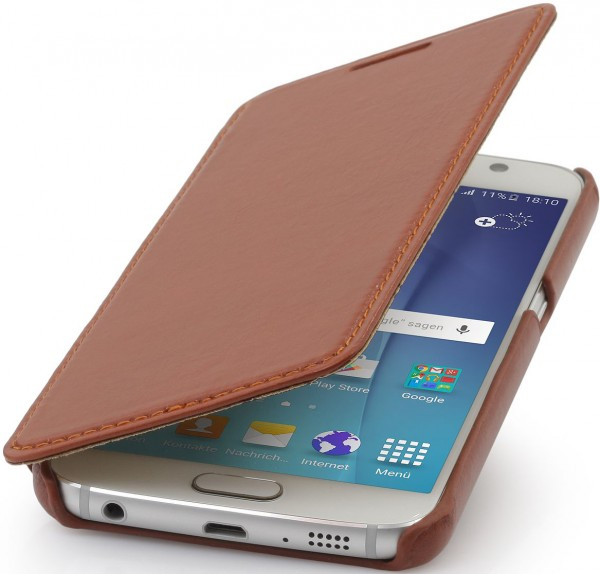 "StilGut - Samsung Galaxy S6 leather case ""Book Type"" without clip"