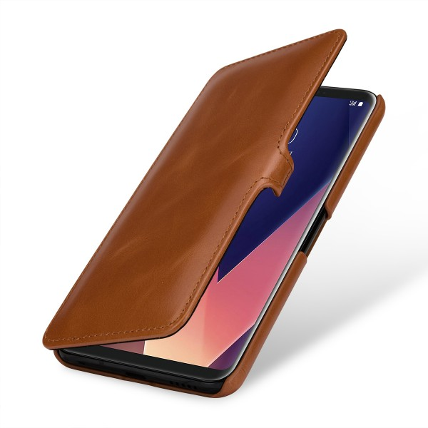 StilGut - LG V35 ThinQ Cover Book Type with Clip