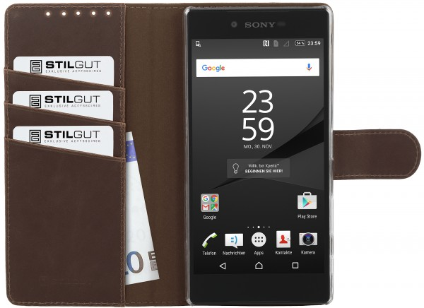 StilGut - Xperia Z5 Premium cover Talis with stand function