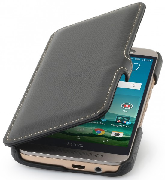"StilGut - HTC One M9 leather case ""Book Type"" with clip"