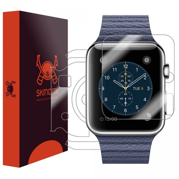 Skinomi - Screen protector for Apple Watch 42 mm (back and front sides) TechSkin