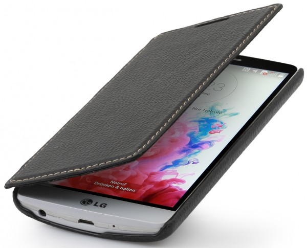 "StilGut - Leather case ""Book Type"" for LG G3s"