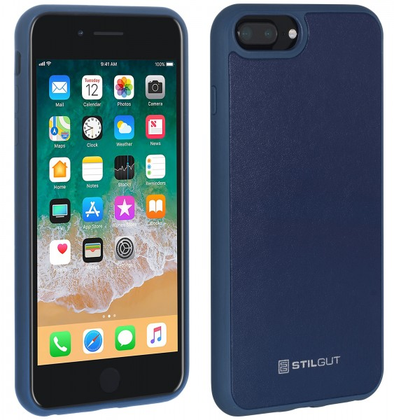 StilGut - iPhone 8 Plus Case with Leather