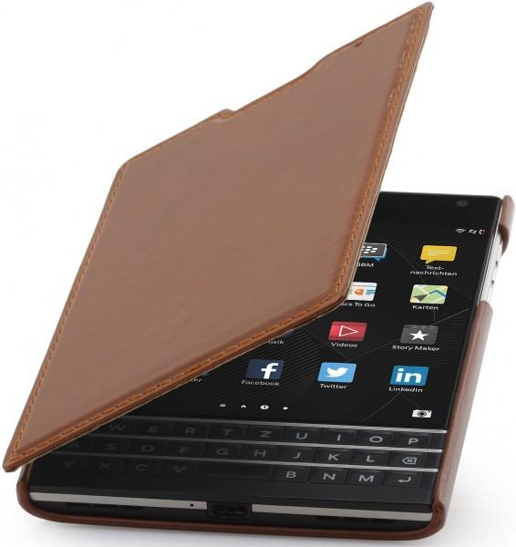 "StilGut - BlackBerry Passport leather case ""Book Type"""