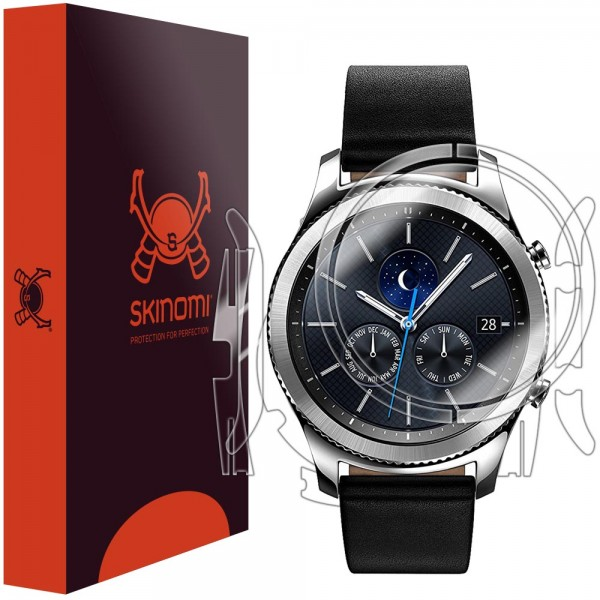Skinomi - Screen Protector Samsung Gear S3 classic Front and Back Side