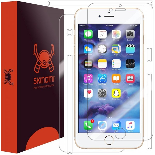 Skinomi - iPhone 7 Plus screen protector TechSkin back and front sides