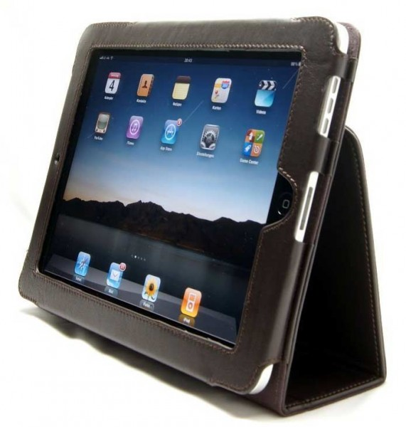 "StilGut - Leather Case ""Scarsela"" for iPad 1"