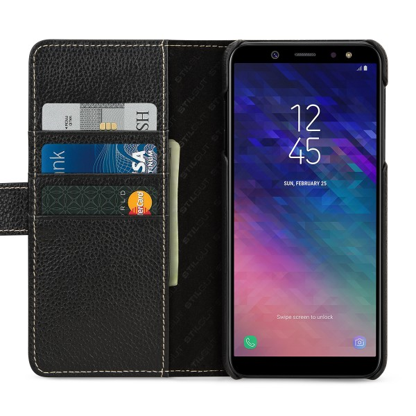StilGut - Samsung Galaxy A6 Plus (2018) Cover Talis with Card Holder