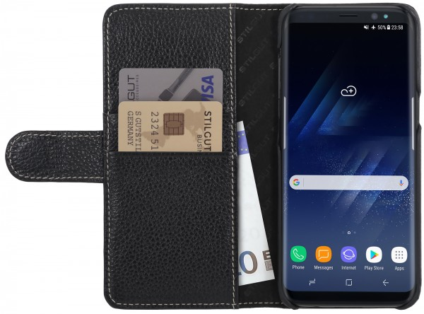 StilGut - Samsung Galaxy S8 Cover Talis with Card Holder