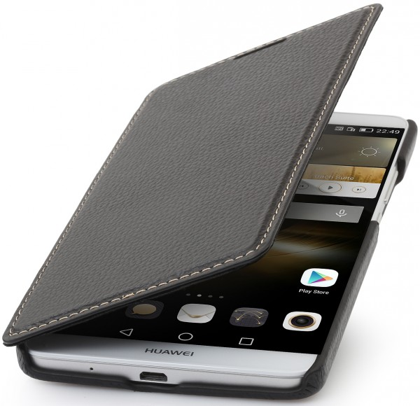 """StilGut - Huawei Ascend Mate 7 leather case """"Book Type"""" without clip"""